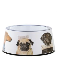 Dig In! Dog Bowl. After spending the day playing catch, digging up once-buried bones, and gleefully obeying your playful commands, your four-legged friend enjoys a much-deserved feast in this adorable bowl from One Hundred 80 Degrees! #multi #modcloth