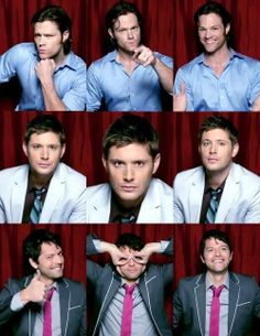 I like how Jensen is just giving the smolder, almost blue steel fashion, and then Misha is just super goofy