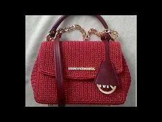Hướng dẫn móc túi sợi bọc kim tuyến mũi đơn chân cao chân thấp - How to crochet a bag - YouTube