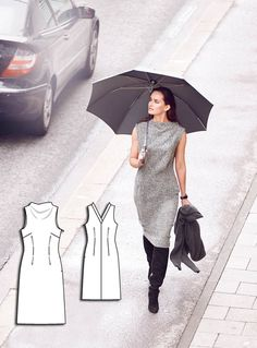High Neck Sheath Dress 10/2015 #111AB http://www.burdastyle.com/pattern_store/patterns/high-neck-sheath-dress-102015?utm_source=burdastyle.com&utm_medium=referral&utm_campaign=bs-meh-bl-150921-SaltAndPepperCollection111