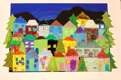 Olive and Love » Our Neighborhood – Children's Auction Art project