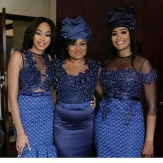 Ideas of Shweshwe Styling with Modern Outfits - Reny styles Source by EmEttaEm dress modern African Bridal Dress, African Wedding Attire, African Attire, African Dress, African Wear, African Weddings, Xhosa Attire, African Clothes, African Style
