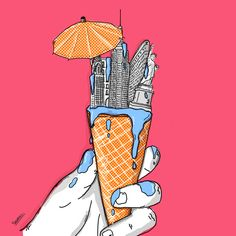 Summer heat waves, An illustrated NY in Illustration