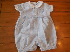 Size 3 months Vintage Infant Newborn Baby Boy Blue by LittleMarin