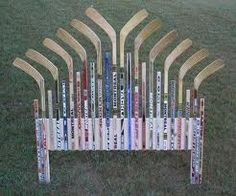 hockey stick head board - who knew!
