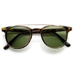 29397ead29d8 Dapper Vintage Inspired Indie Clear Lens Wayfarer Clip On Sunglasses 9  (€9