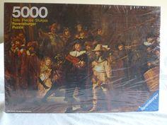 NIB Vintage 1977 Ravensburger 5000 Piece Jigsaw Puzzle Rembrandt The Night Watch | eBay