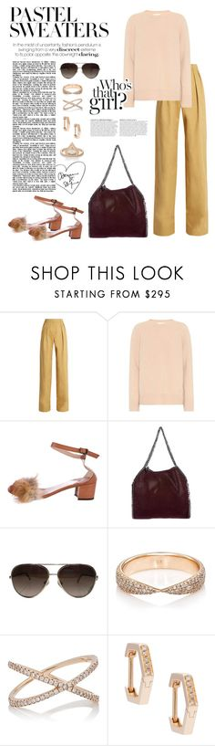 """Pastel Sweaters"" by windrasiregar on Polyvore featuring palmer//harding, The Row, Brother Vellies, STELLA McCARTNEY, Chanel, Eva Fehren and Anja"