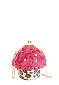 Betsey Johnson Sweet to the Shop Bag. You spread your cute from your flat to the bakery with this cupcake clutch by Betsey Johnson! #pink #modcloth