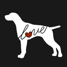 German Shorthaired Pointer (GSP) Love Window Vinyl Car Sticker Decal for Dog Lovers (Ships Free)