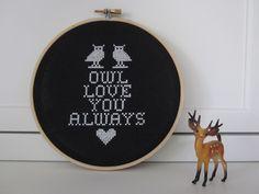 Owl Love You Always Cross Stitch Idea