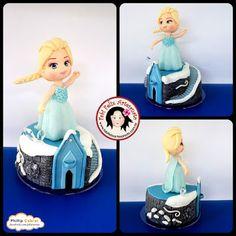 Fabi Felix Artesanato: Topo de bolo Elsa Frozen