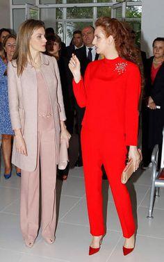 La reina Letizia y la princesa Lalla Salma de Marruecos, en Rabat el 15 de julio de 2014