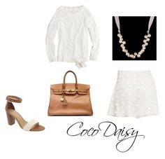 """""""Today"""" by cocodaisy ❤ liked on Polyvore featuring Forever 21, J.Crew, Old Navy and Hermès"""