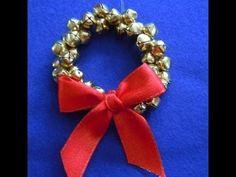 DIY: christmas bell wreath