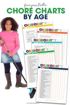 Need a chore chart for your kids? These free printable chore charts for kids are perfect for all ages. Chore Chart By Age, Daily Chore Charts, Free Printable Chore Charts, Chore Chart Kids, Free Printables, Chores For Kids By Age, Chore List For Kids, Age Appropriate Chores For Kids, Chore Sticks