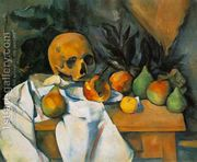 Still Life With Skull  by Paul Cezanne