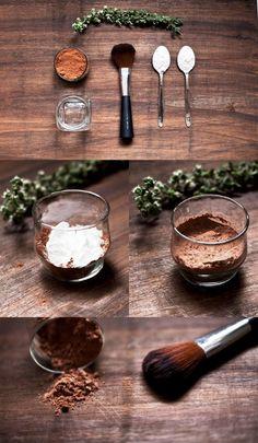 Rebajar el tono de los polvos y bronzers