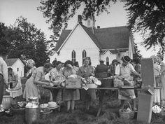 "Sunday Gatherings on the Church grounds.  We called it ""Homecoming"".  What great food...what wonderful memories!"