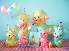 Vintage kitschy birthday toys