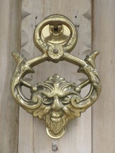 The Green Man Door Knocker✖️Door Knockers And Door Knobs ➕More Pins Like This At FOSTERGINGER @ Pinterest ➖