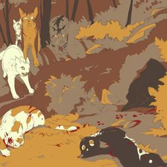 When they found swiftpaw and brightpaw after the dog pack attacked them Warrior Cats Fan Art, Warrior Cats Series, Warrior Cats Books, Warrior Cat Drawings, Cat Attack, Love Warriors, Angry Cat, Comic, Beautiful Cats