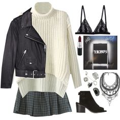 The 1975 by runawaydream on Polyvore featuring Acne Studios, Retrò, Topshop, XEVANA, Forever 21, MAC Cosmetics, women's clothing, women's fashion, women and female