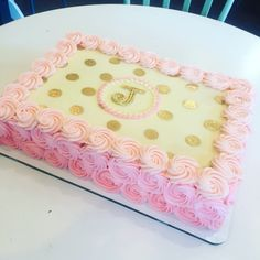 Rosette sheet cake , classy and chic by Hayleycakes and cookies in Austin tx!
