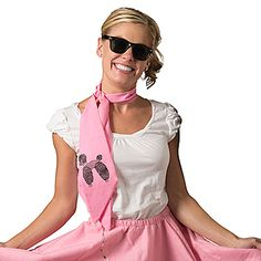 Our Pink Poodle Scarves feature an iconic 50s emblem, the French Poodle. Each cotton blend Pink Poodle Scarf measures 5 inches x 60 inches.