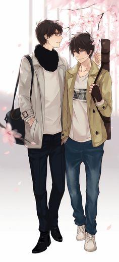 Yukio x Rin (Ao no Exorcist ) http://www.pixiv.net/member_illust.php?mode=medium&illust_id=26692206