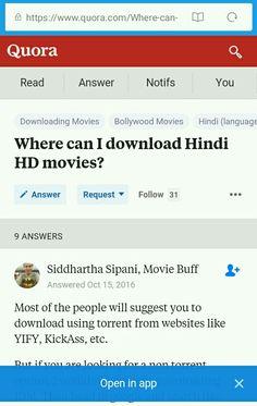 sites for movie download quora