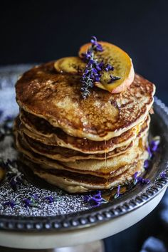peach-bacon-pancakes-with-lavender-butter-syrup-www-climbinggriermountain-com-i