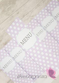 menu weselne walentynki groszki grochy kropki ręcznie robione oryginalne…