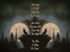 This Digital Art Download is of Two Wolves Howling At The Moon with the saying My Heart Is A Wolf Ruled By Two Moons One Which Beckons Me Back Into The Night The Other Is Calling Me Home. Thanks for Looking. April PLEASE NOTE This listing is for a DIGITAL DOWNLOAD. No physical product will be Wolf Pack Quotes, Lone Wolf Quotes, Moon Quotes, Wall Quotes, Life Quotes, Epic Quotes, Random Quotes, Best Quotes, Funny Quotes