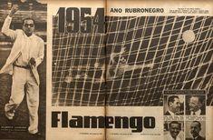 """Em Março de 1955, a revista """"O Cruzeiro"""" fez uma matéria especial de 6 páginas titulada: """"1954 Ano Rubro Negro"""""""
