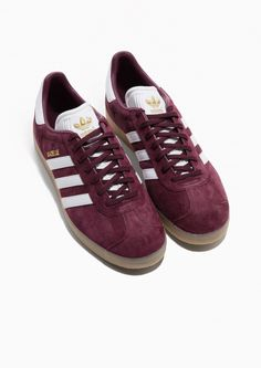 & Other Stories image 2 of Adidas Gazelle in Burgundy