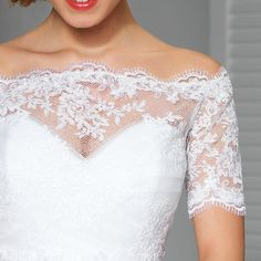 This feminine lace top makes a gorgeous addition to your strapless wedding dress. Beautiful lace top is unique, made with care to every detail.