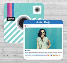 Instagram Party Invitation and Emoji Photo Booth by WLAZdesignSHOP