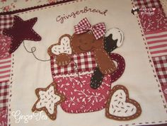 Gingerbread Crafts, Christmas Crafts, Christmas Decorations, Country Paintings, Quilted Wall Hangings, Primitive Crafts, Mug Rugs, Xmas Ornaments, Christmas Holidays