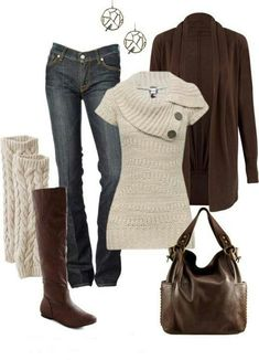 Brown, Cream & Jeans