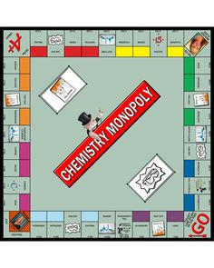 I am SO excited to share this Chemistry Monopoly game with you all!I am sharing it with special permission from the Director of Academics who was kind enough t