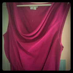 NWT Fuchsia/Plum High Low Dress Brand new with tags. This beautiful high low dress has a drop neckline that puddles. Side zip. Price is firm unless bundled. Dresses High Low