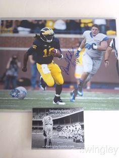 Denard Robinson Signed Michigan Wolverines 11x14 Photo