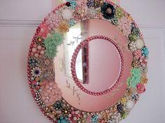 Vintage Jewelry Mirror #diy #crafts
