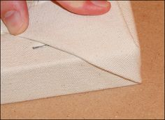 How to stretch a canvas - it seems so much easier than I thought.