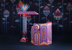 zim & zou have crafted a colorful paper universe for the window display of a hermès store in dubai at the mall of the emirates.