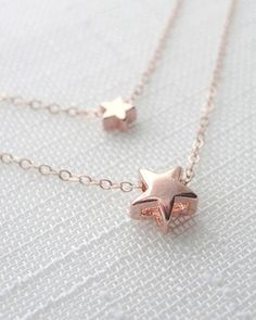 Oh, this is absolutely gorgeous. Two necklaces made in the rose gold. They are so pretty.  Need to get some.