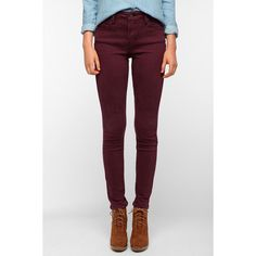 Levi's Demi Curve High-Rise Skinny Jean - Wine ($40) ❤ liked on Polyvore