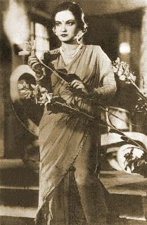 Indian films and posters from 1930: First Playback in Hindi ..Main Khush Hona Chahoon Khush Ho Na Sakoon- Dhoop Chhaon (1935)