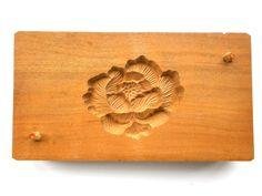 Vintage Japanese Kashigata Mold Peony Flower by VintageFromJapan